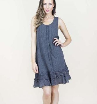 Tiered Lace Ruffle Tunic (4-Colors)