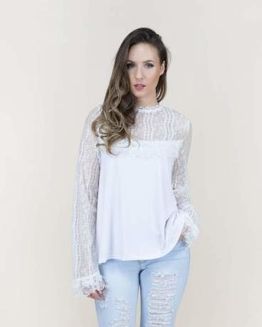 Jenny Long Sleeves Lace Top (2-Sizes)