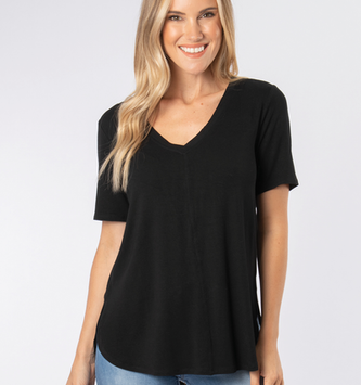Simply Noelle Simply Noelle Hi-Low Basic Tee (2-Colors)