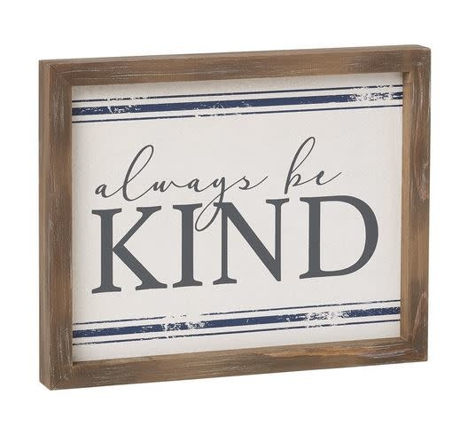 Always Be Kind Wood Framed Sign