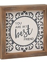 Wood Framed Patterned Sign
