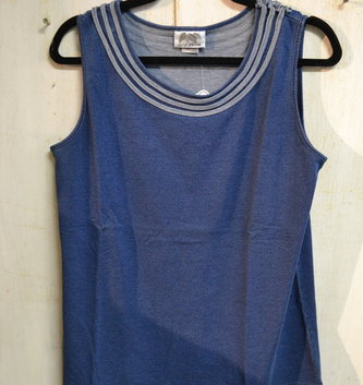 Wild Palms Roll Neck Tank Top (2-Colors)