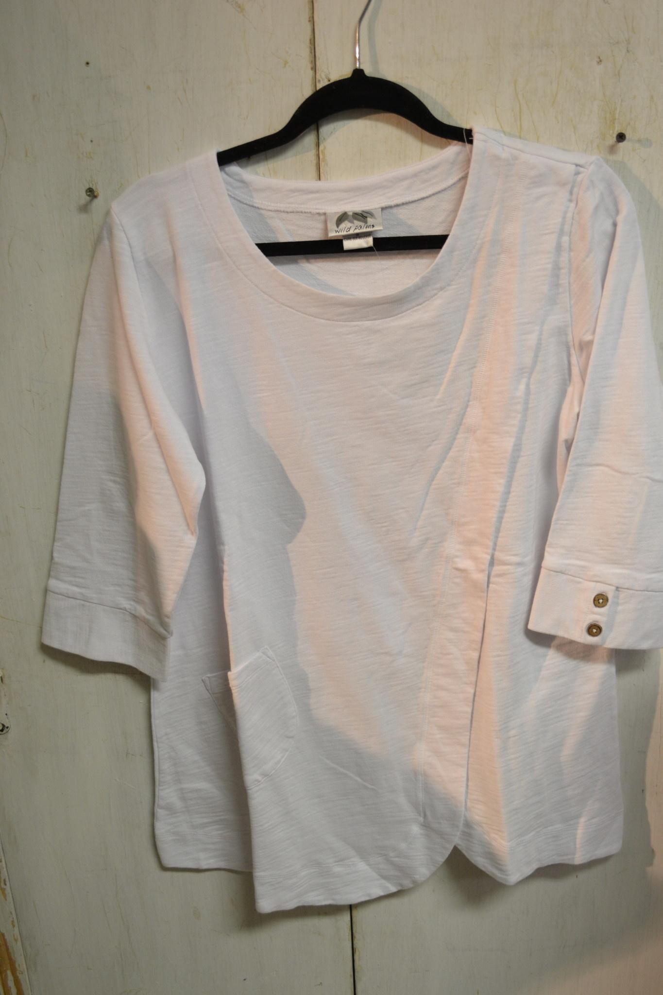 Wild Palms 3/4 Sleeve Side Pocket Tunic (3-Colors)