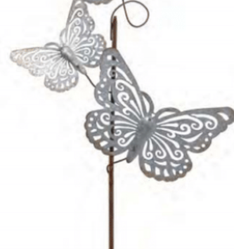 Galvanized Triple Butterfly Stake