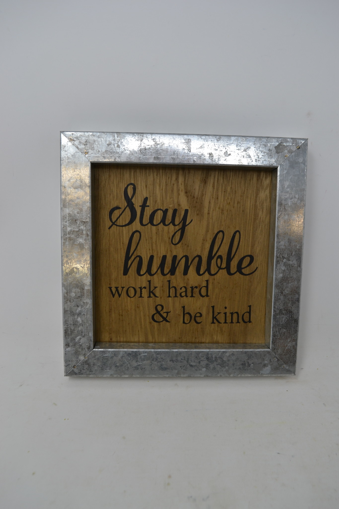 Wooden Sign with Galvanized Frame (3-Styles)