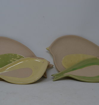 Ceramic Bird Plate (2-Sizes) (2-Colors)