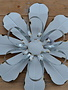 Distressed Enamel & Tin Wall Flower (2-Styles)