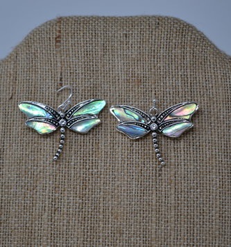 Iridescent Dragonfly Earrings