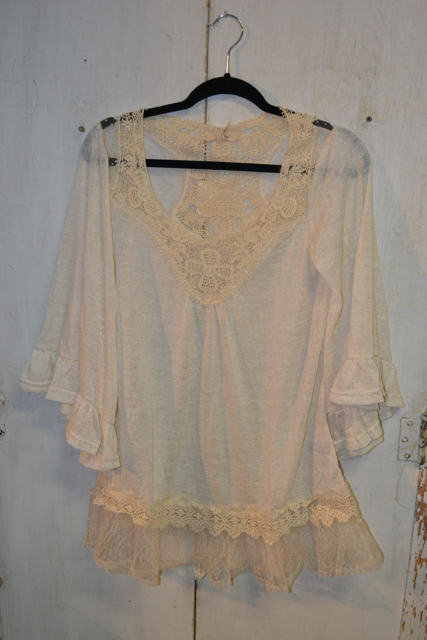 Bell Sleeve Lace Tunic (3-Sizes)