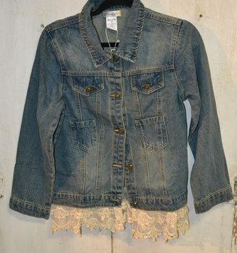 Denim Jacket with Lace Trim (3-Sizes)