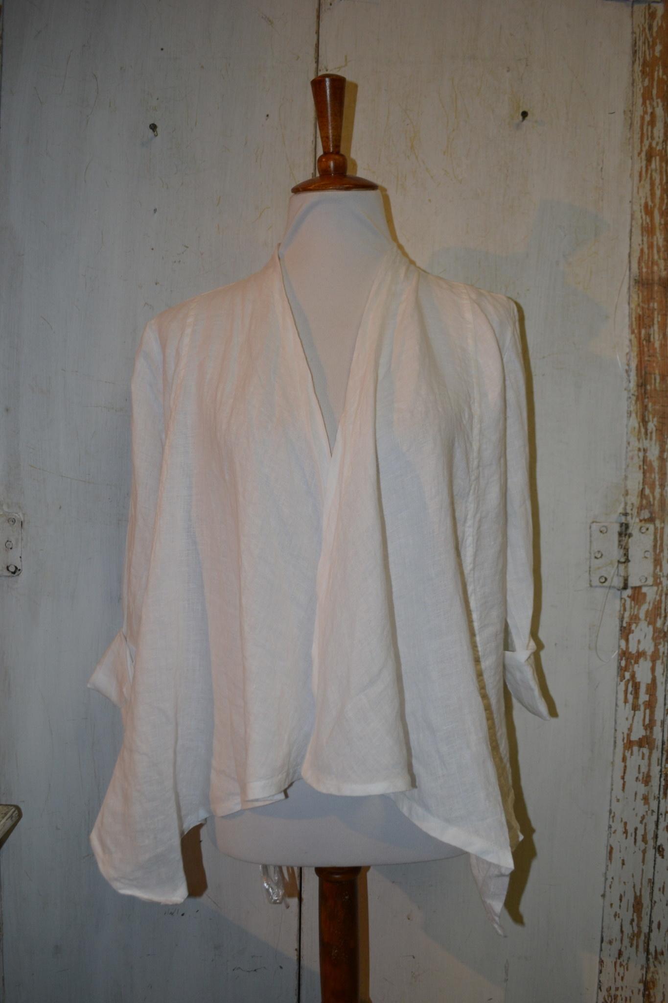 Short Crop Linen Jacket (2-Colors) (4-Sizes)