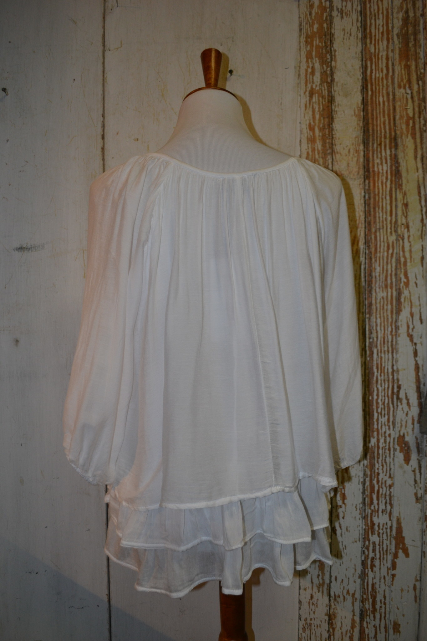 Dip Dye Tiered Top (2-Colors/4-Sizes)