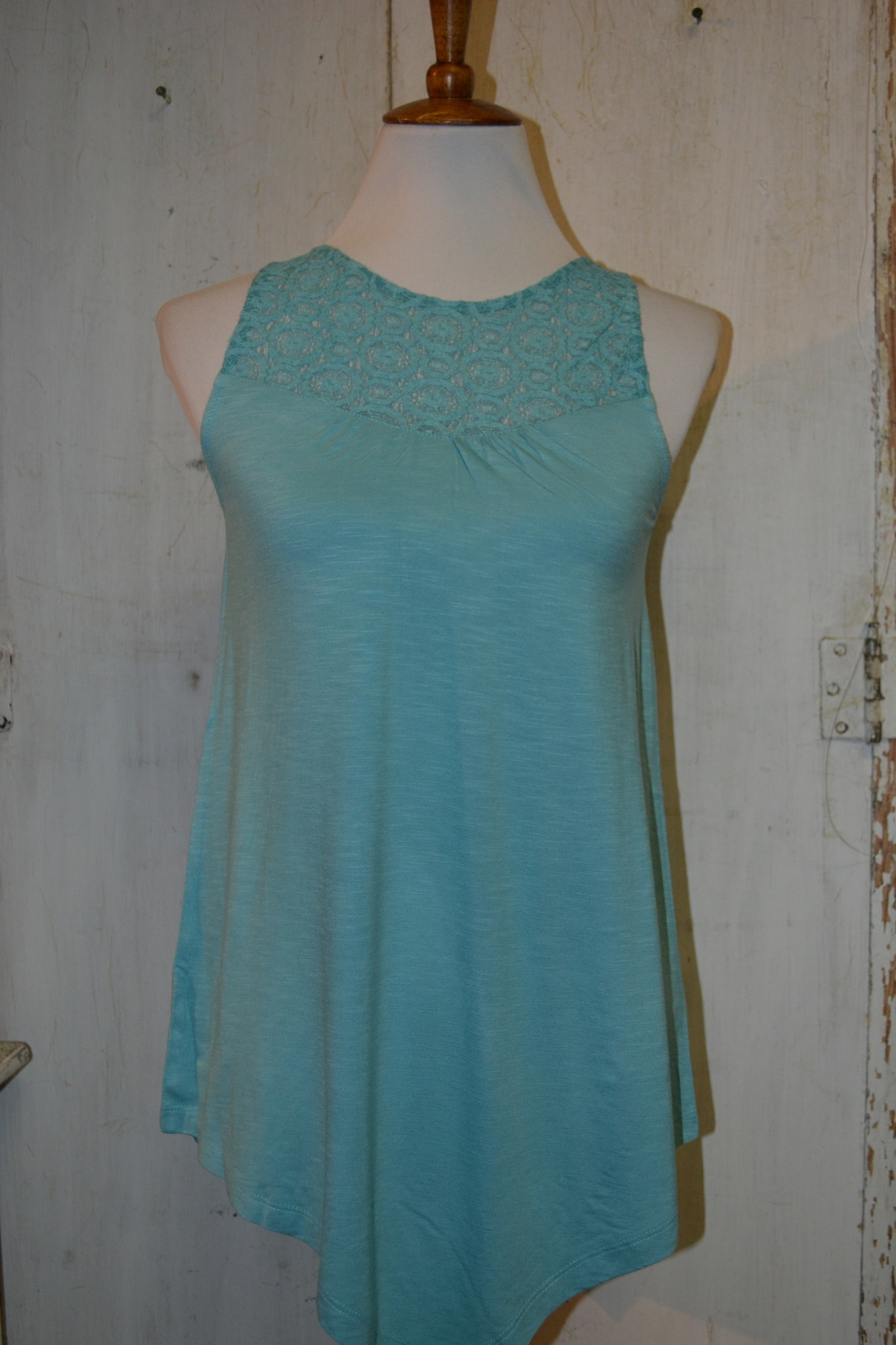 Knit Lace Tank Top (2-Colors/4-Sizes)