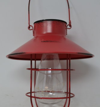 Antiqued Red Solar Hanging Light