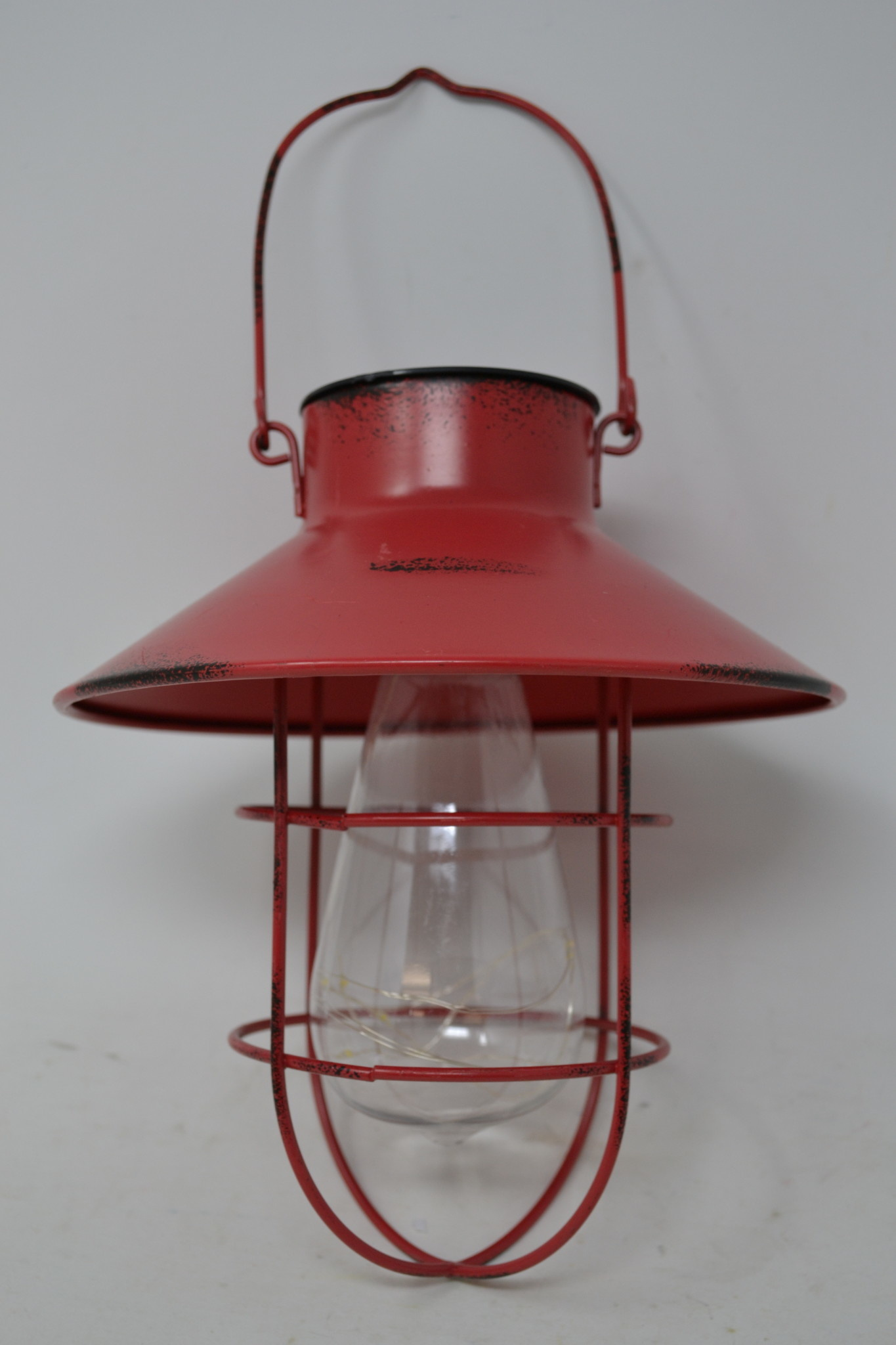 Antiqued Red Solar Hanging Light