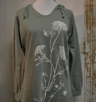 Queen Anne's Lace Blowing Rock Hoodie