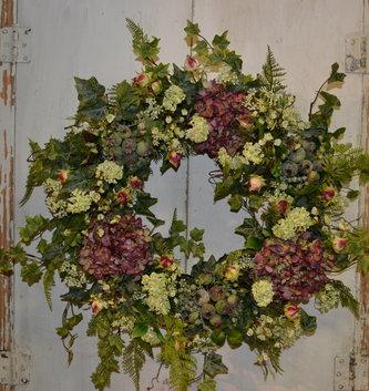 Custom Rose Hip & Hydrangea Wreath