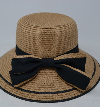 Straw Hat With Fashion Bow