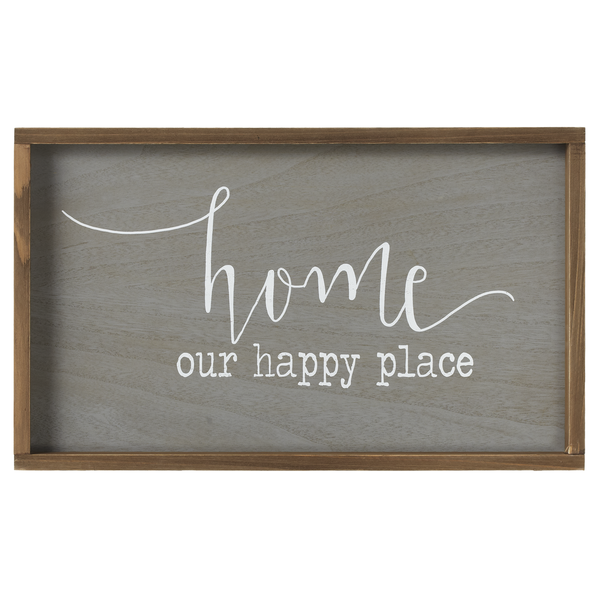 Our Happy Place Framed Sign