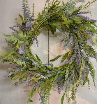 "24"" Lavender & Dusty Fern Wreath"