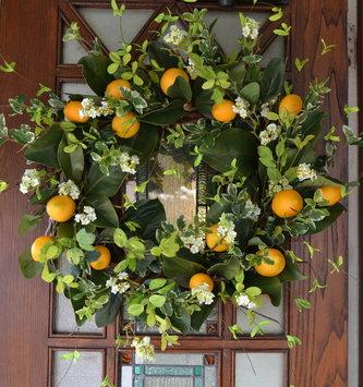 Custom Lemon Magnolia Wreath