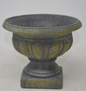 Moss Colored Cement Pedestal Container