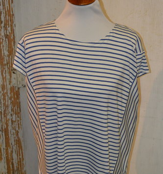 Mini Stripe Cap Sleeve Top (4-Sizes/2-Colors)