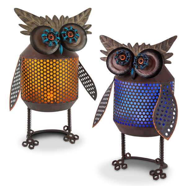 Solar Standing Owl (2-Colors)