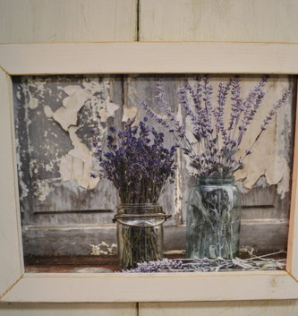 Abundance of Beauty Lavender Rustic Framed Sign