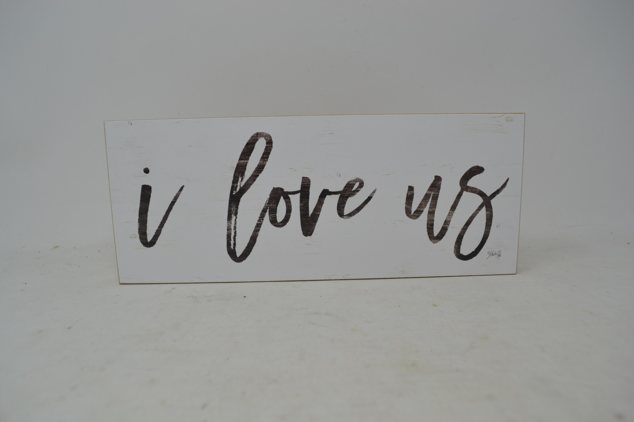 I Love Us Block Sign