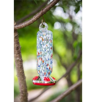 Speckled Glass Hummingbird Feeder (2-Styles)