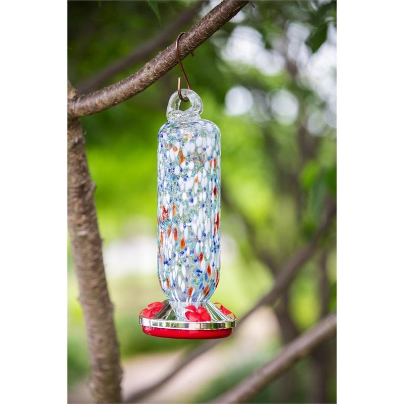 Speckled Glass Hummingbird Feeder (2-Styles)