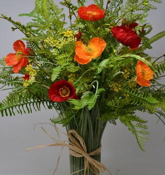 Custom Poppy Grass Vase