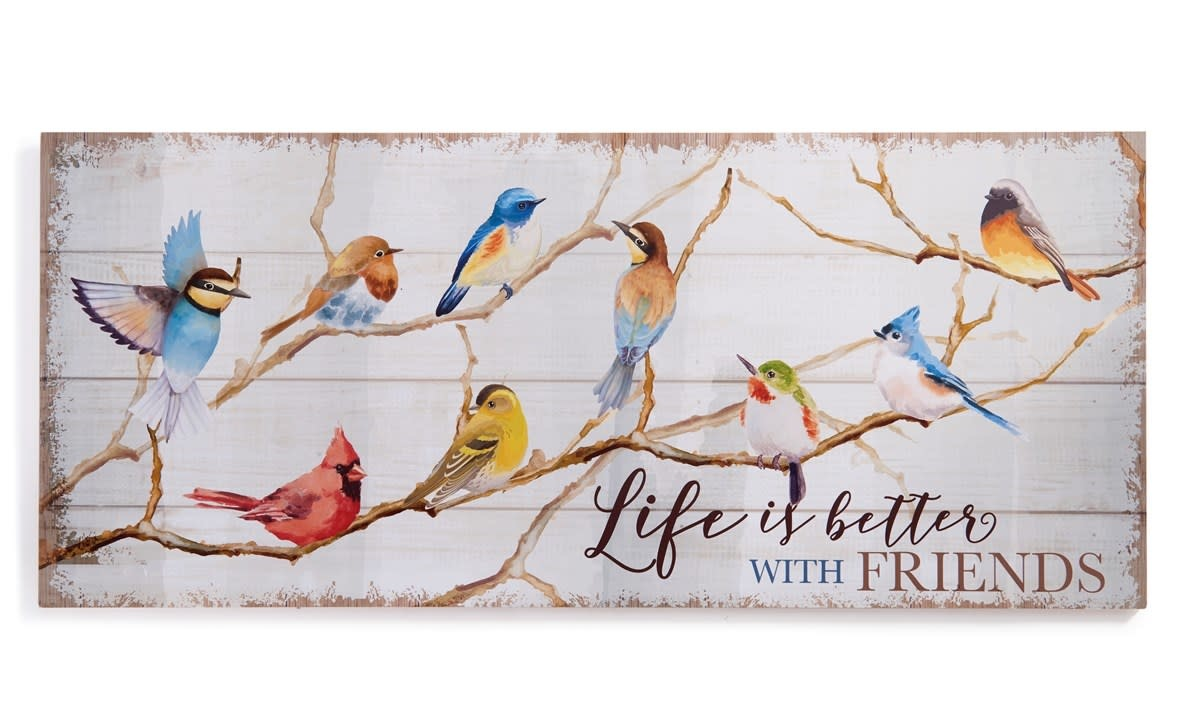 Life Is Better Birds On Branch Print