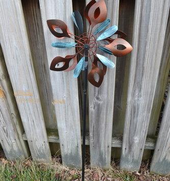 Small Bronze & Aqua Kinetic Spinner