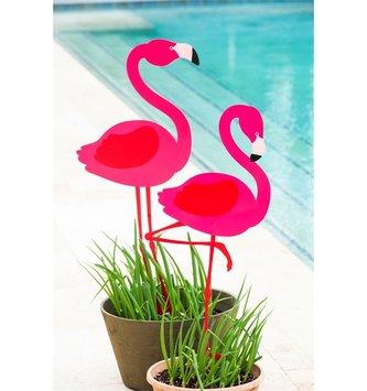 Metal Flamingo Yard Art Stake (2-Styles)