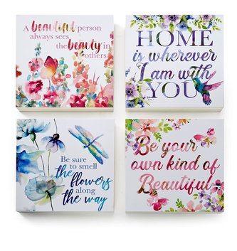 Watercolor Square Sentimental Print (4-Styles)