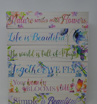 Inspirational Floral Watercolor Block  (6-Styles)