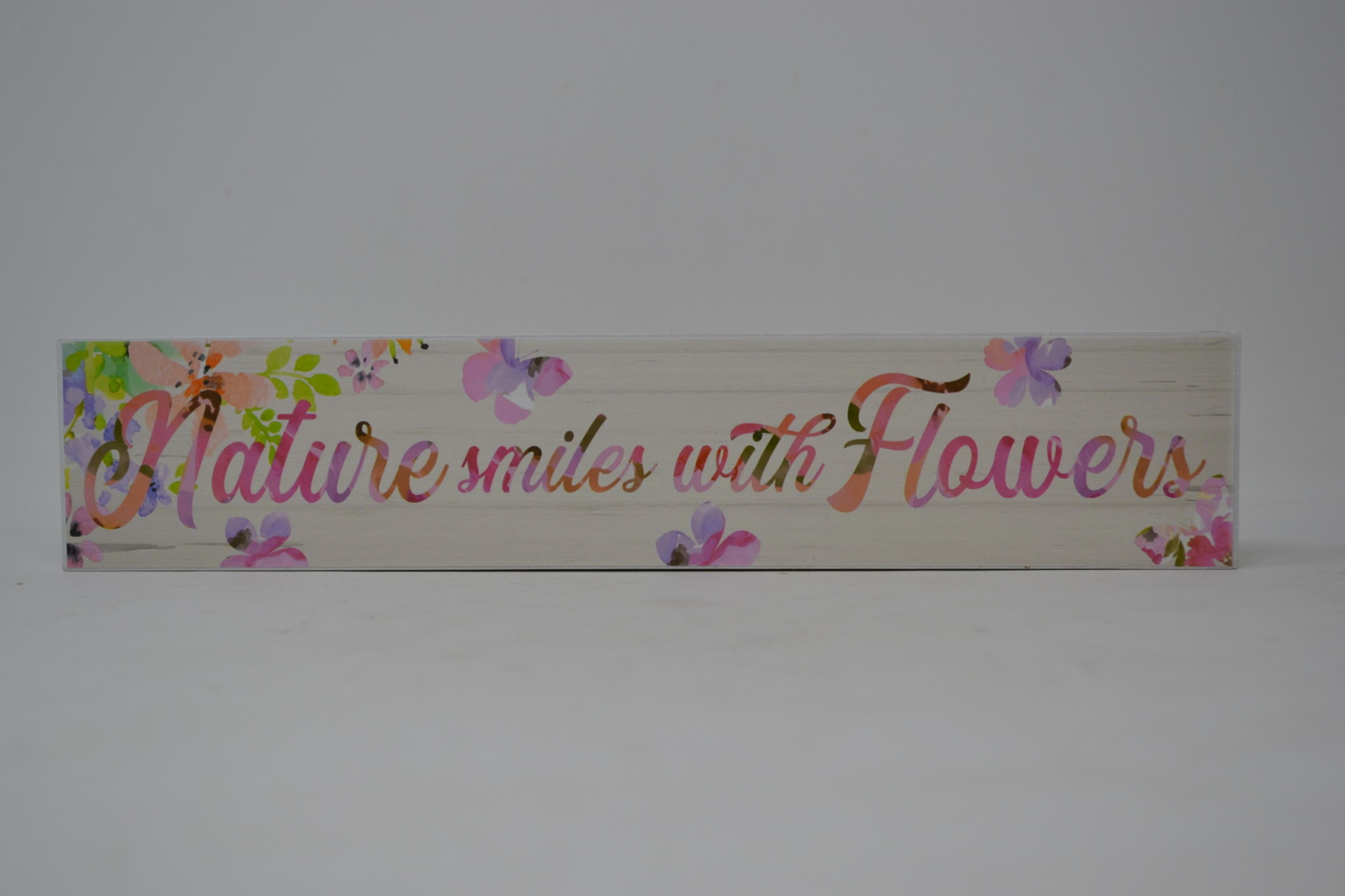 Inspirational Floral Watercolor Block Sign (6-Styles)