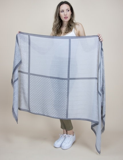 Mixed Pattern Block Scarf (3-Colors)