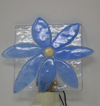 Blue Flower Glass Night Light