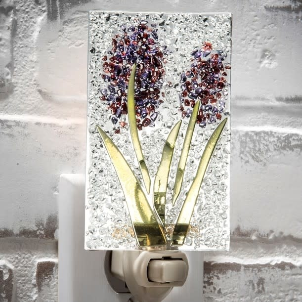 Purple Hyacinth Glass Night Light