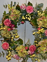 Custom Pink Dahlia Wreath