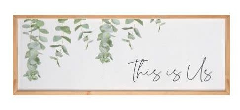 Textured This Is Us Eucalyptus Sign