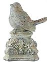 Distressed Bird on Scroll Pedestal (3-Styles)
