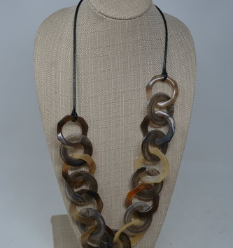 Tortoise Shell Hoop Necklace