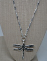 Silver Dragonfly Beaded Necklace