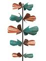 Teal & Copper Rustic Propellers Wind Spinner