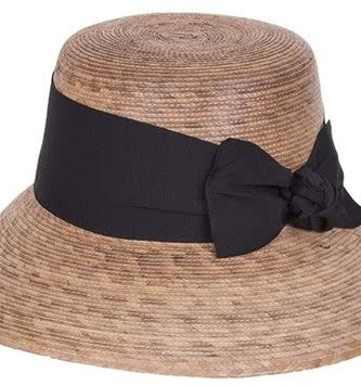 Tula Hats Somerset Woven Hat w/ Black Band & Bow