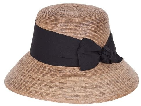 Tula Hats Somerset Woven Hat with Black Band & Bow